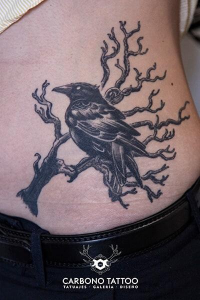 tatuaje-cuervo-curado